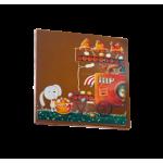 CARTE CARREE CHOCOLAT LAIT